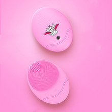 купить Hot sale  Mini Electric Facial Cleaning Massage Brush Sonic Face Waterproof Silicone Vibrating Face Cleanser в интернет-магазине