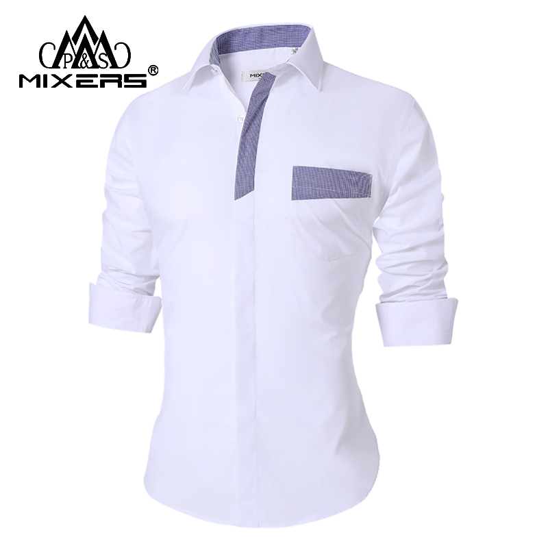 Brand New 2018 Casual Shirts Men Long Sleeve Fashion Men's Casual Shirt Male Office Dress Shirt Men Camisa Masculina