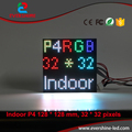 Hot! 4mm HD P4 Vídeo LED Do Painel de Bordo Alibaba AliExpress 128*128mm 32*32 Pixels SMD RGB Full Color Interior Display LED Módulo Tela