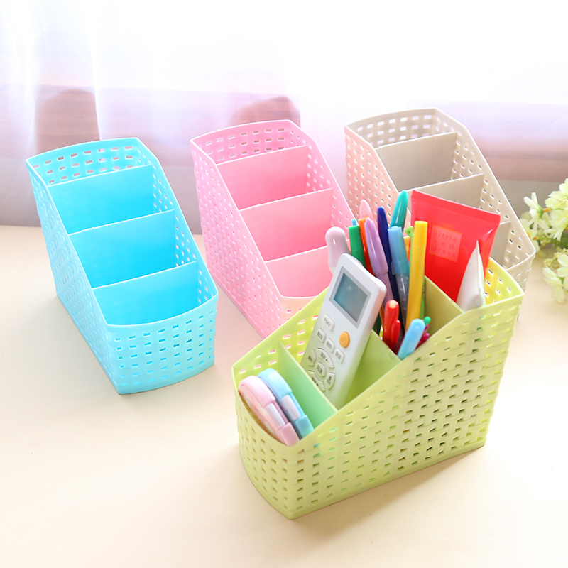 Multi-grid Creative Layered Makeup Storage Box Desk Sundries Classification Plastic Organzier Storage box