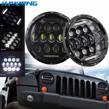 HJYUENG For UAZ Hunter Suzuki Samurai LED Projector headlight 7 headlamp Light Lamp 7inch Lada 4x4 urban Niva