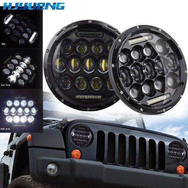 "HJYUENG For UAZ Hunter Suzuki Samurai LED Projector headlight 7"" LED headlamp Light Lamp 7inch For Lada 4x4 urban Niva"