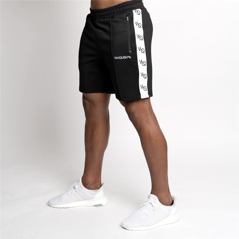 Men 2019 Summer New Fashion Cotton Shorts Man Gyms Fitness Knee Length Sweatpants Male Jogger Workout Outdoor Brand Short Pants