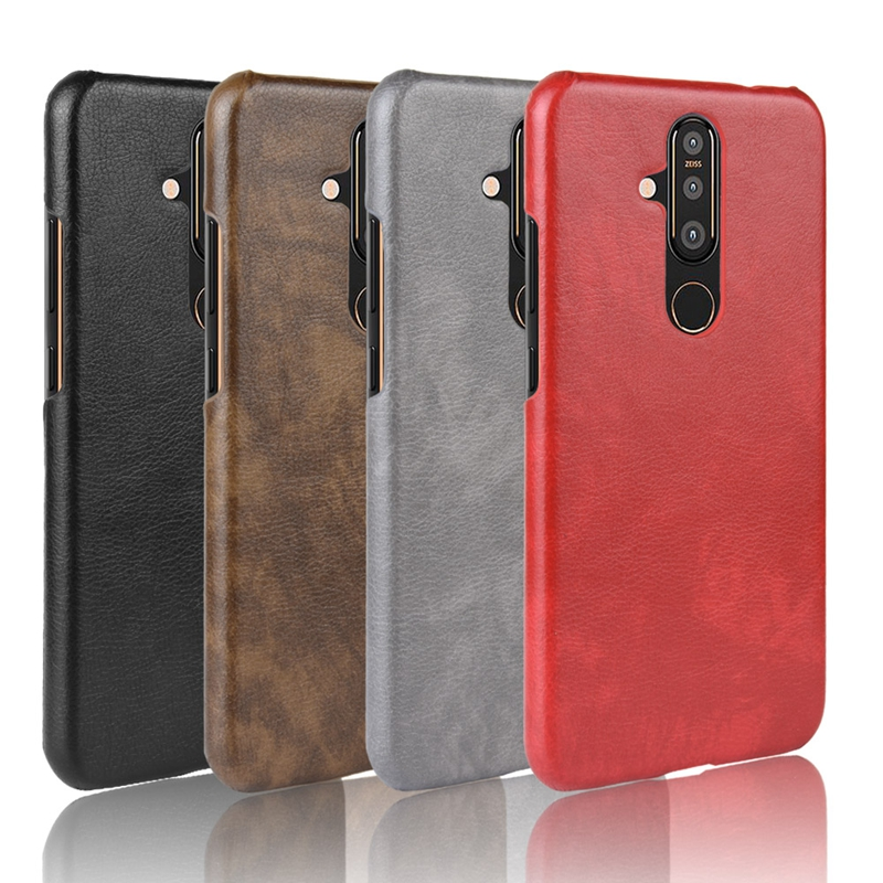 Rugged Case For <font><b>Nokia</b></font> <font><b>X71</b></font> 4.2 8.1 7.1 2.1 5.1 9 pureview Bumper Litchi Texture Back Cover For <font><b>Nokia</b></font> 6.1 3.1 5.1 1 Plus Coque image