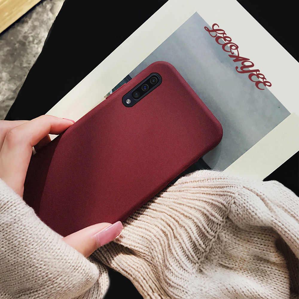 S10 Silicone Souple Mat Plaine Housse De Protection Soigné Téléphone étui pour samsung Galaxy A50 A10 A30 A40 A60 A70 A80 A90 A50S s Pare-chocs