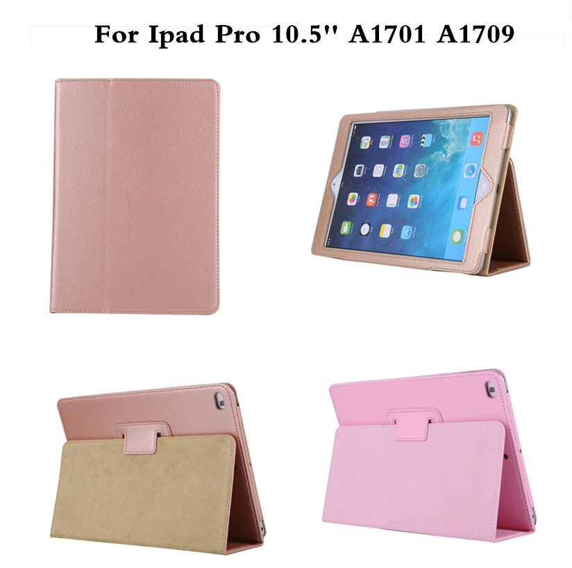 Luxury Gold Stand Case For iPad pro 10.5 Case PU Leather Smart Flip Cover For Funda iPad pro 10.5 inch A1701 A1709 Sleep/Wake pu leather case for ipad pro 12 9 inch luxury smart tablet cover for ipad pro 12 9 with stand auto wake up an sleep function