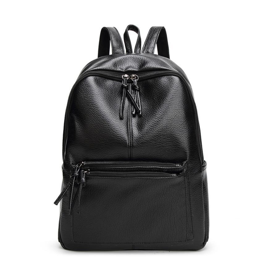 2017 Fashion Women Backpack Youth Leather Backpacks for Teenage Girls Female School Shoulder Bag Bagpack mochila
