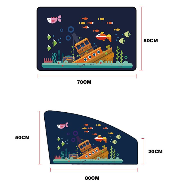 Image 5 - Cartoon Car Magnetic Sunshade Sunscreen Insulation Car Curtain Sun Visor Side Window Sunscreen-in Side Window Sunshades from Automobiles & Motorcycles