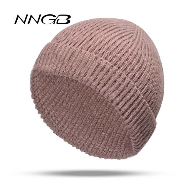 9caee1db503fa NNGB 2018 Women Hat Solid Knitted Beanie Winter Hats for Women Mens Ladies  Unisex Bone Cotton Spring Autumn Keep Warm Skull Cap