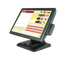 cheaper price commercial pos computer restaurant cashier register machine in all in one pc restayrant equipment with MSR