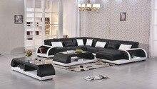 2017 No Hot Sale Top Fashion Chaise Bean Bag Chair Sectional Sofa Beanbag Genuine Leather Sofa For Living Room Modern Set