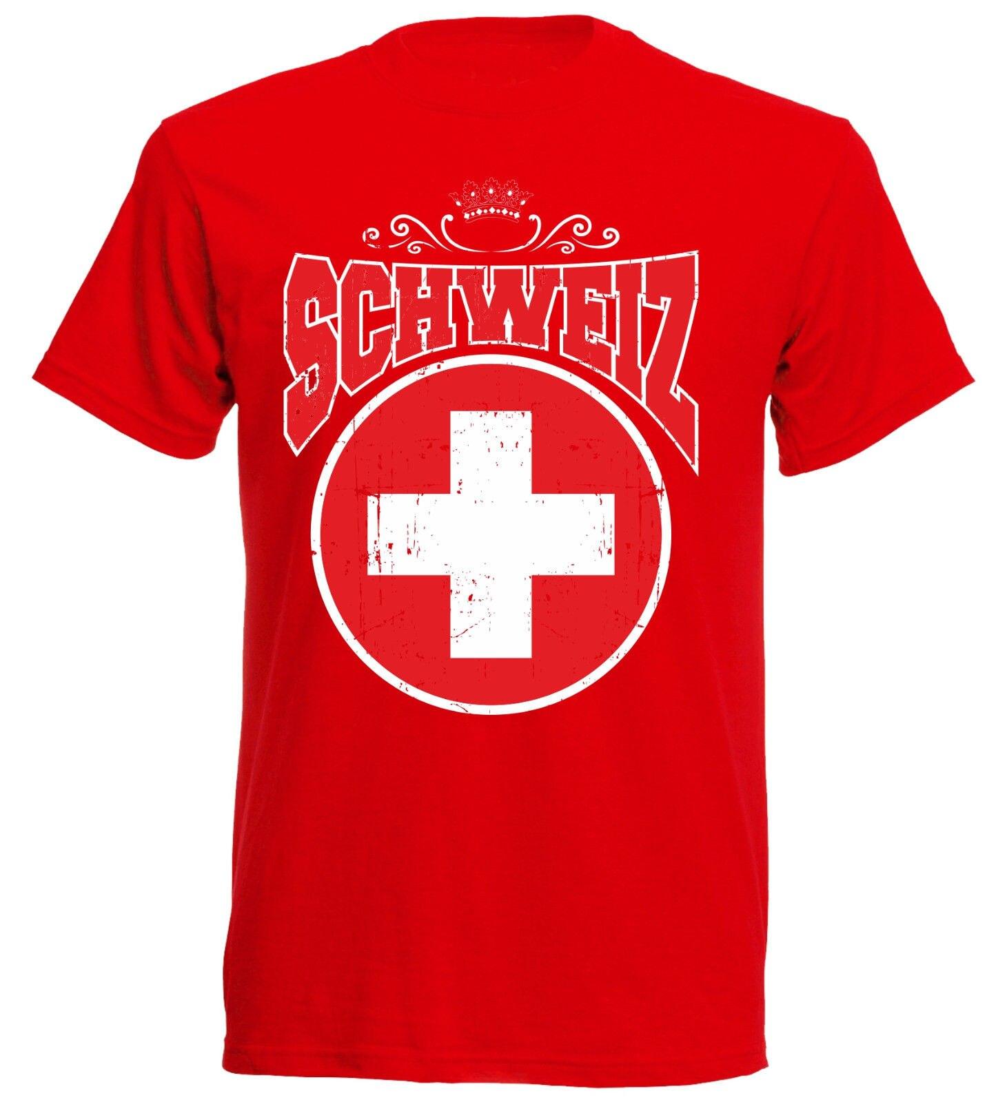T-Shirt Men 2019 New Print Men T Shirt Summer T-Shirt Schweiz Switzerland Men'S Footballer Fashion Classicfree T Shirts