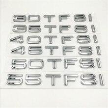 1 шт. стильные автомобильные аксессуары 3D ABS Silver 30 TFSI 35 TFSI 40 TFSI 45 TFSI 50 TFSI 55 TFSI сзади загрузки эмблемы значка Стикеры для Q3 Q5 Q7 A4 A6