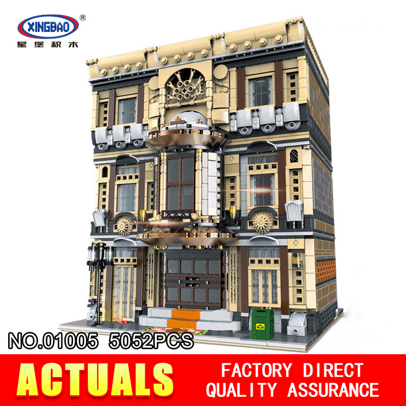 XingBao 01005 5052Pcs Block Genuine Creative MOC City Series The Maritime Museum Set Building Blocks Bricks Toys Model Gifts
