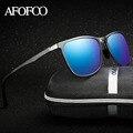 AFOFOO Алюминиевая мужской HD Поляризованных Солнцезащитных Очков Марка Дизайнер Квадратных Мужчины Вождения Солнцезащитные очки Мужчины UV400 Оттенки Goggle Очки
