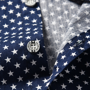 Image 4 - طفل صبي الملابس مجموعة البحرية نجوم قميص بلايز + السراويل البيضاء مع حزام مجموعة ملابس عصرية للطفل الصبي بدلة قصيرة