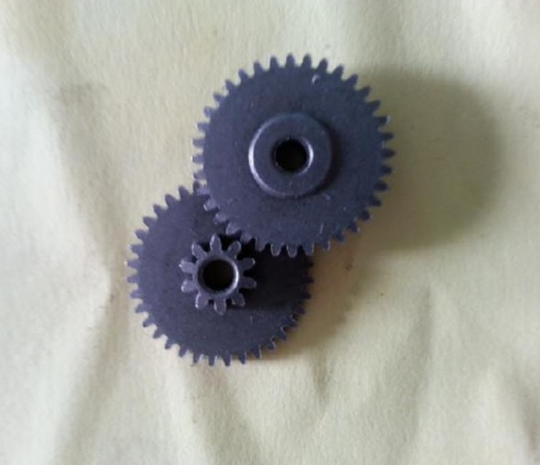10pcs powder metallurgy dual motor spur gear 10-36T 0.6m(10T) 0.5m(36T) 6H 3mm R holeMeat Grinder Parts etc.