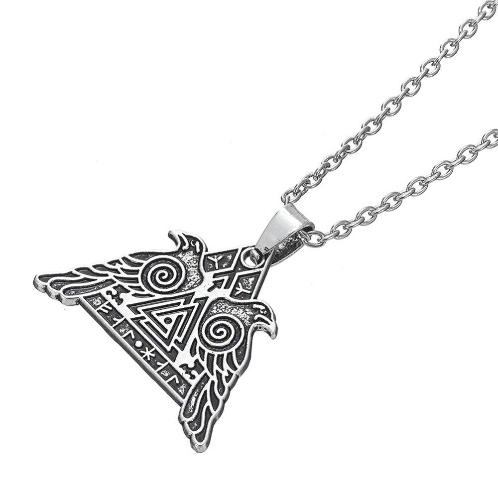 Aliexpress Buy Dawapara Odins Crow Valknut Necklaces