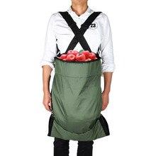 Fruit Picking Bags Harvest Garden Apron Large Volume Pouch for Gardener Comfortbble Adjustable Shoulder