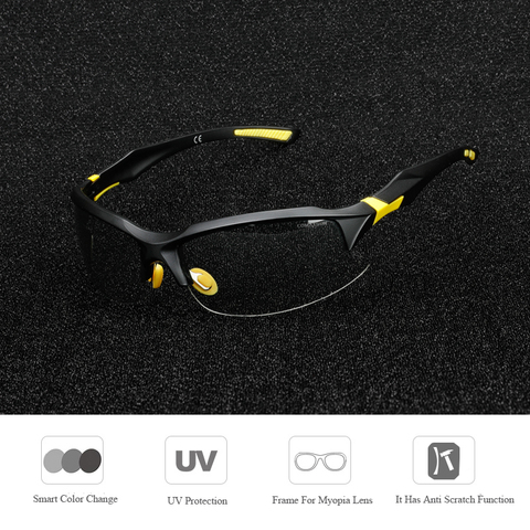COMAXSUN Professional Photochromic Polarized Cycling Glasses Bike Goggles MTB Sports Bicycle Sunglasses Myopia Frame UV 400 Karachi