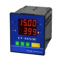 220 В оригинальный онлайн промышленных PH/ОВП контроллер 0 14PH диапазон 4 ~ 20mA Выход 2 in1 pH овп воды качество метр CT6659E с зонд