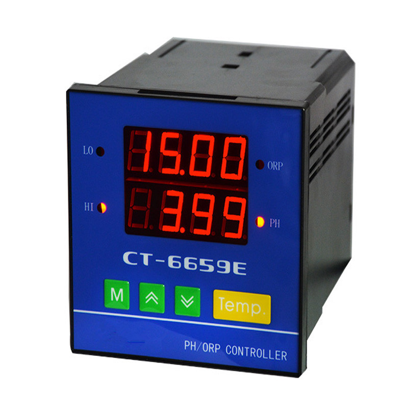 220V Original Online Industrial PH/ORP Controller 0-14PH Range 4~20mA Output 2 in1 pH ORP Water Quality Meter CT6659E With Probe стоимость