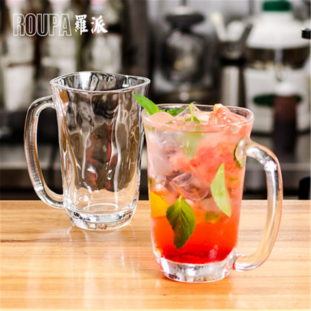 Us 18 09 Creative Personalized Glass Beer Mugs Personalized Glasses Whiskey Mug Water Xicara Home Clear Juice Cup Tea Office Qqb967 In Transparent