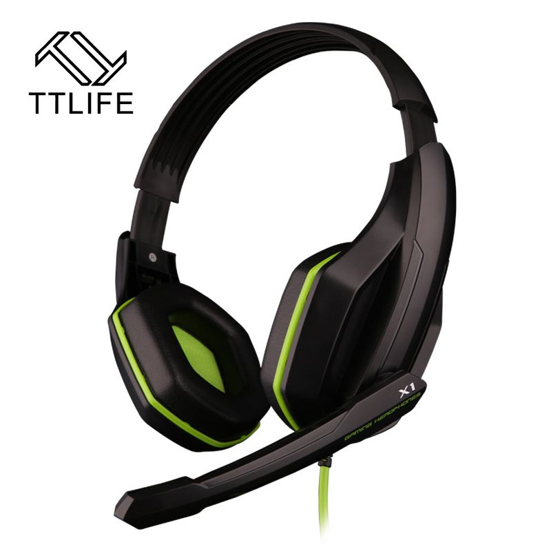 TTLIFE Gaming Headphone 3.5mm Gaming Headset Headband Super Bass Stereo Earphone with Mic Noise Canceling for PC Video Gamer