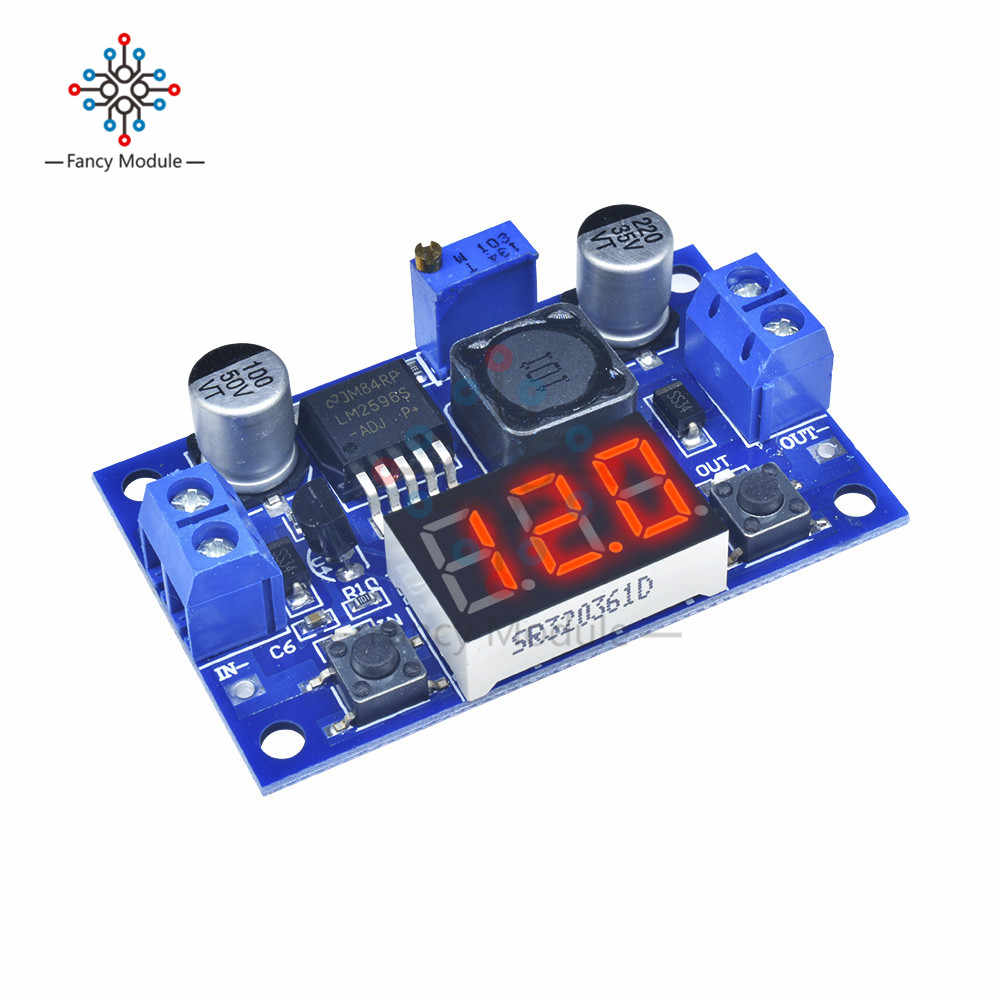 DC 4.0 ~ 40 ถึง 1.3-37 V LED Voltmeter Buck Step - down Converter โมดูล LM2596
