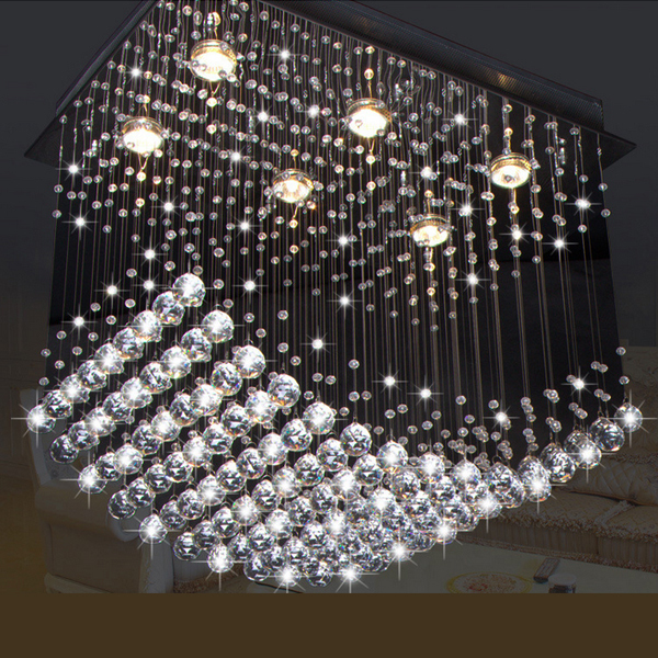New Modern Fashional Luxurious First Class K9 Crystal Ceiling Lamps Dining Hanging Light Living Room