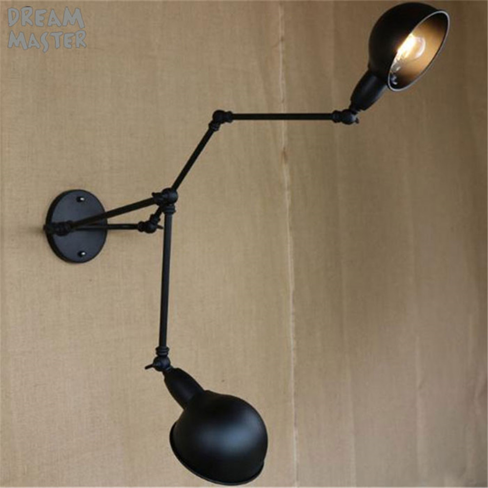 Double Swing Arm Wall Lights Bedside Novelty Indoor Lamp Modern Sconce Bedroom Lamps Reading Light E27 Lighting Decor In From