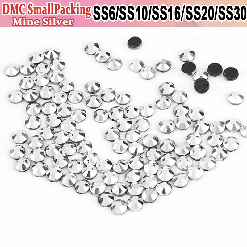 Strass Crystals Hot Fix SS6 SS10 SS16 SS20 SS30 Mine Silver 1440pcs 288pcs Iron  On Rhinestones 3a9828ae9a80