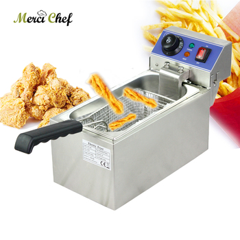 ITOP 6L Electric Deep Fryer Frying Machine Household And Commerical Food Machine CE Stainless Steel Fried Chicken Maker ce 2 tanks 16l electric deep fryer stainless steel frying machine commercial or household fryer
