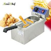 ITOP 6L Elektrische Friteuse Machine huishoudelijke en commerciële Voedsel Machine CE Rvs Gebakken Kip Maker