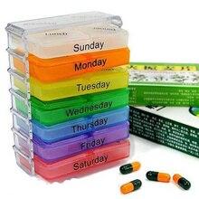 ¡Nuevo! Estuche para píldoras de 7 días, caja organizadora de almacenamiento semanal de medicina, caja organizadora DC88