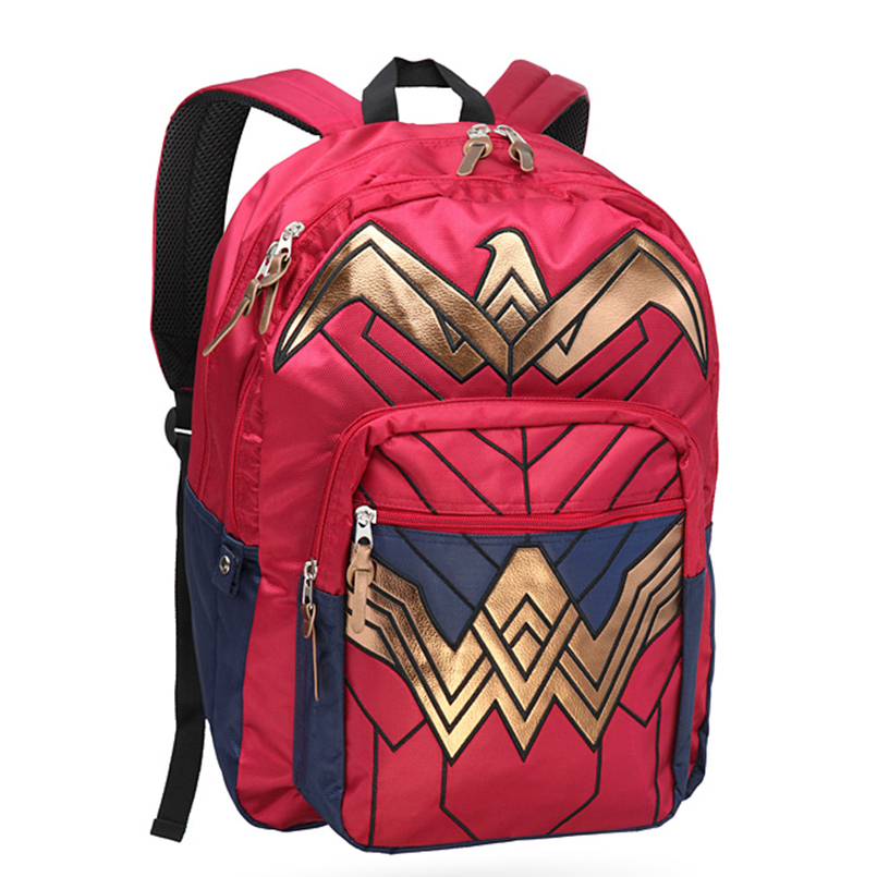 Dawn of Justice Wonder Woman Backpack 18 x 19in 100% Polyester DC Comics shoulder Bag male and female students Book bag