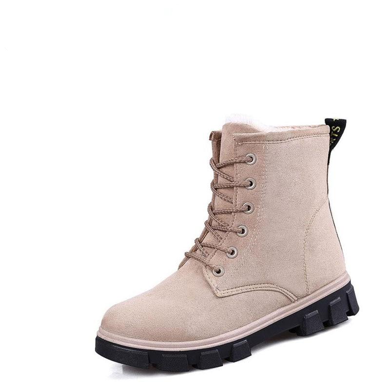 Y Mujeres Terciopelo marrón Invierno gris Húmedo Botas 2017 Bota Con Estudiantes Algodón Los Negro Zapatos La E Las Más blanco rojo De Nieve Cilindro Otoño 71TqY