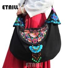 Vintage Handmade Hmong Tribal Ethnic Thai Indian Boho Linen Embroidery Womens Shoulder Crossbody Bag Handbag Sac a Dos Femme