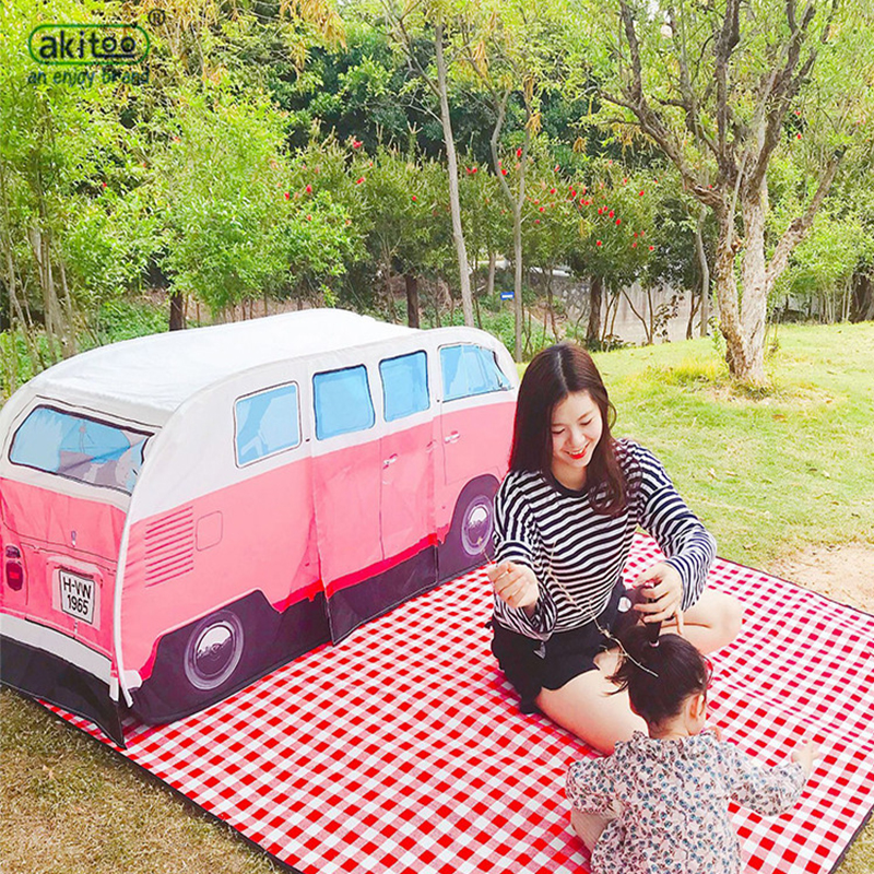 Baby Toy Tents Children Play Room Kids Car Bus Style Waterproof Game Teepee Portable Crib Children House Outdoor Picnic Tent hpn