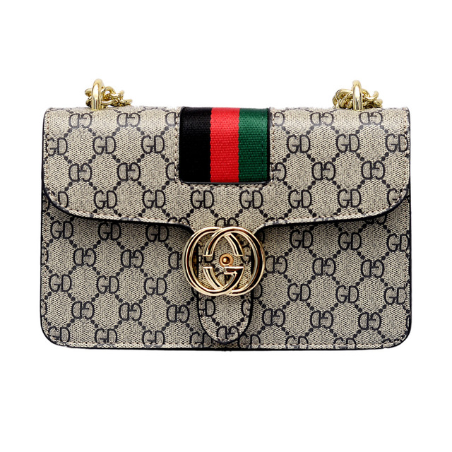 Luxury Brand Logo PU Leather Women Chain Shoulder Famous Design Ladies Paris Messenger Vintage Crossbody bags  channels handbags