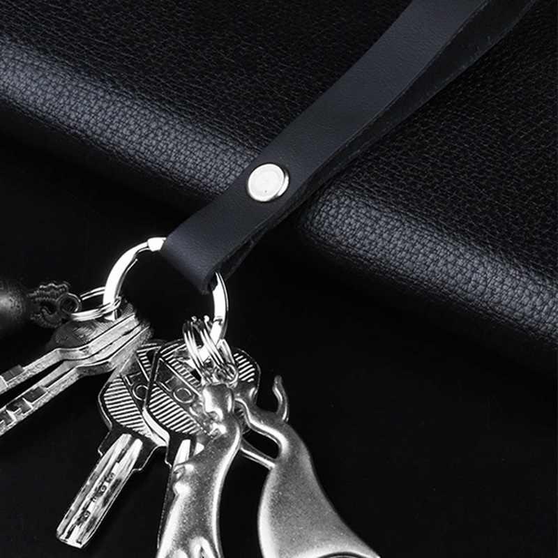 Металлический и кожаный ремень автомобильный брелок брелки для ключей для мужчин женщин автомобильный кулон