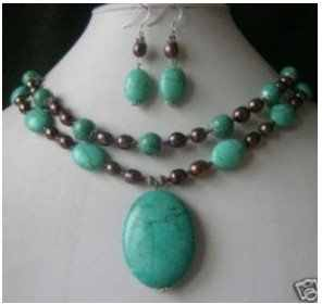 30% off Wholesale prices Fast SHIPPING Charming 12MM Turquoise round beads Necklace Long Fashion S n-013