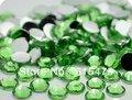 6mm Verde Color SS30 rhinestones de la Resina cristalina flatback, Envío Libre 10,000 unids/bolsa