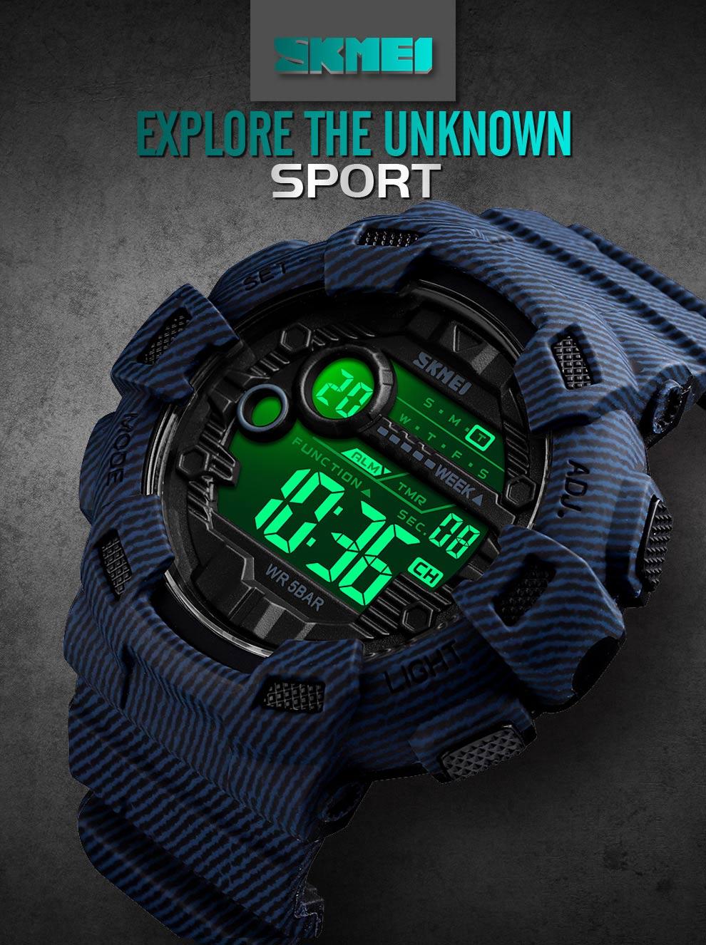 SKMEI Relógio Do Esporte Dos Homens de