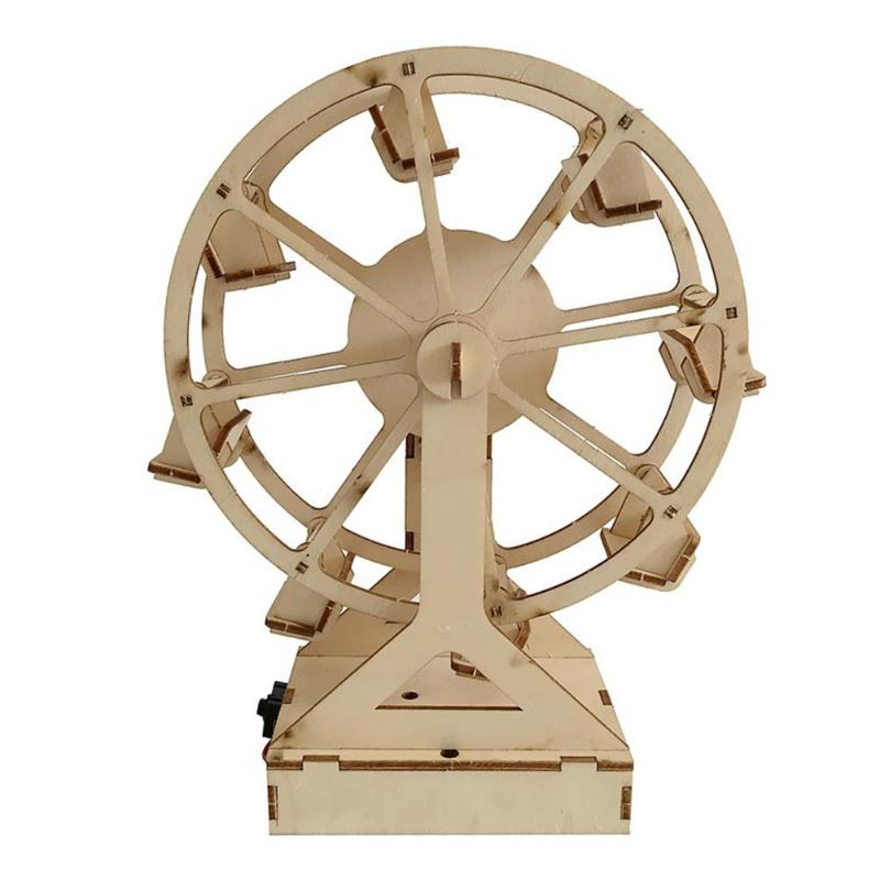 DIY Wooden Ferris Wheel Model Materials Kit Science Experiment Assemble Toy 3D DIY Toys Kids Creative Craft Toys Gifts For Birth