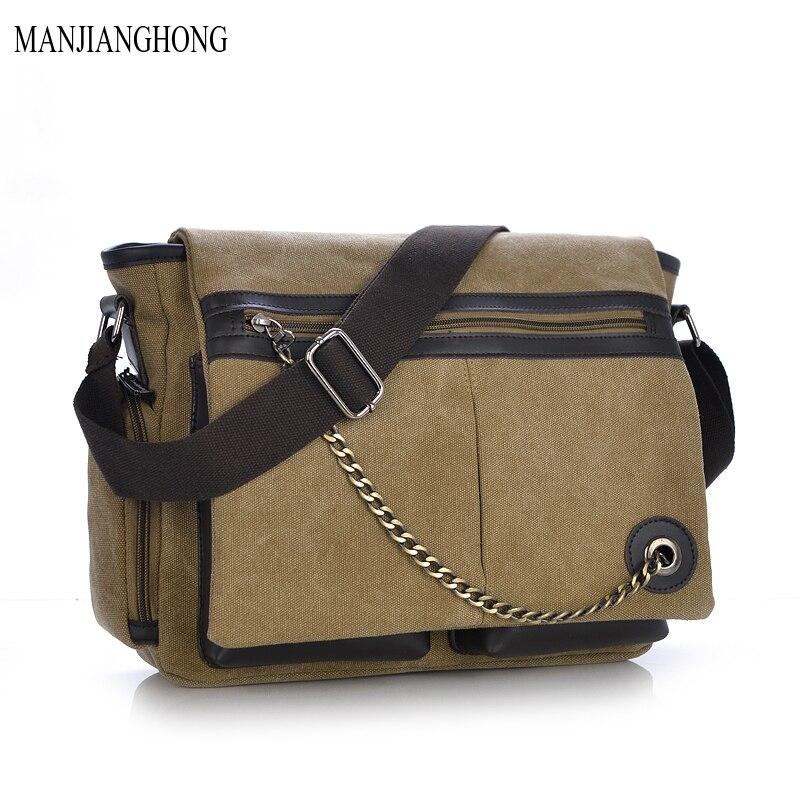 2018 Retro Casual Multifunction Mens Canvas travel crossbody Man Shoulder Messenger Bag Women handbag Briefcase Business bags