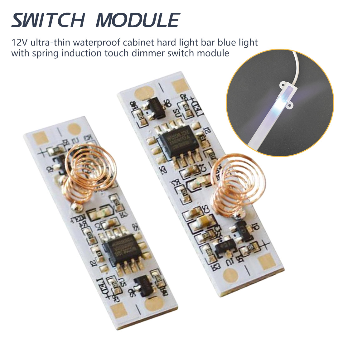 9-24V 30W 3A For Smart Home LED Light Strip DC 12V Capacitive Touch Sensor Switch Coil Spring Switch LED Dimmer Control Switch