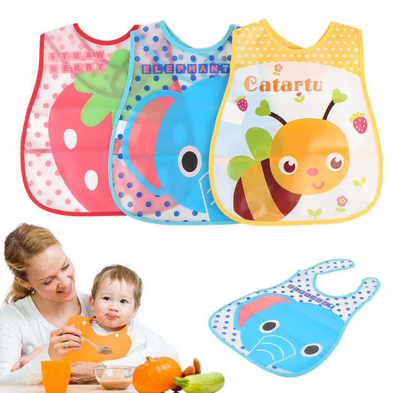 Boys Girl Lunch Burp Clothes Care Baby Bibs Waterproof Cute Cartoon Breastplates for Babies EVA Feeding Towel Pouch Dropshipping
