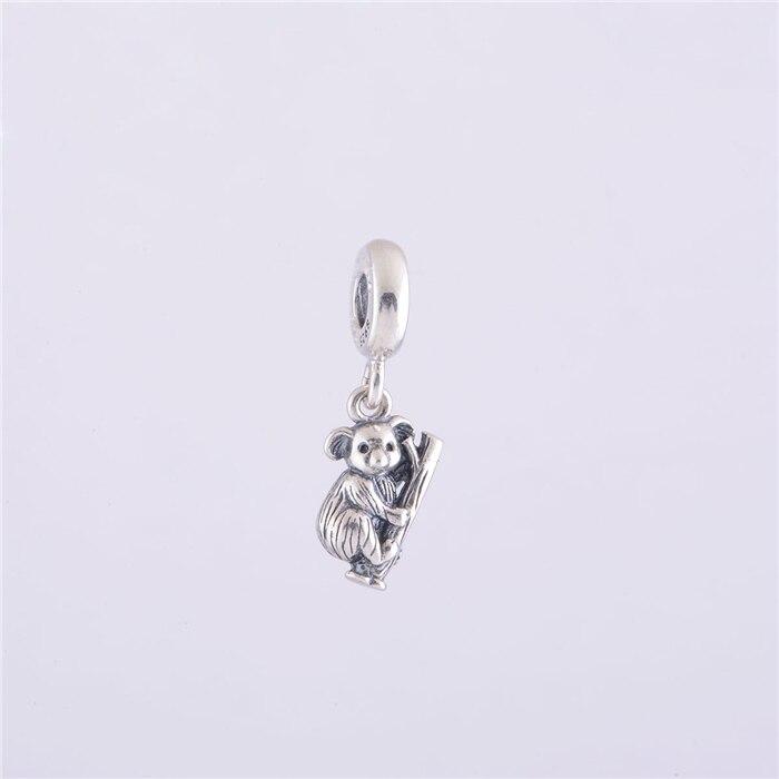 100% 925 Sterling Silver Animal charm Koala Screw Dangle Charm Bead Fit  Original Pandora Charms Bracelet jewelry LW117