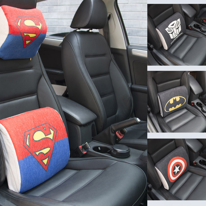 Sikan.Car headrest Memory rebound neck pillow Character fashion movie cartoon car by bag back cushion; backing block